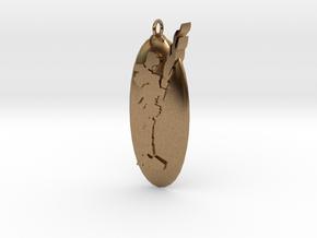 Pendentif Bionicle - Tahu in Natural Brass