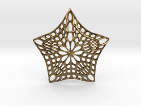 Decorative Ornament 'Star' in Natural Bronze