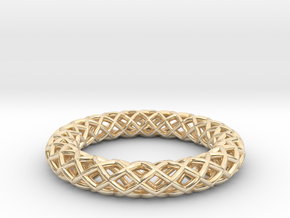 Wire mesh ring (US 6¼) in 14K Yellow Gold