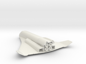 Space Explorer in White Natural Versatile Plastic