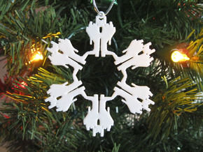 Snowflake Starscream Ornament  in White Natural Versatile Plastic