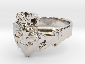 NOLA Claddagh, Ring Size 11 in Platinum