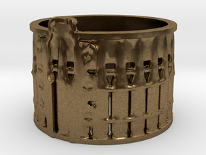 AK-47 75rnd. Drum, Ring Size 14 in Natural Bronze