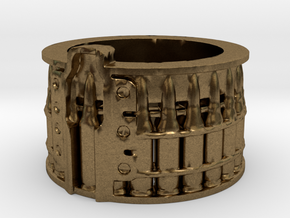 AK-47 75 rnd. Drum, Thick version, Ring Size 14 in Natural Bronze