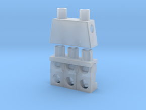 Trinifigure - Three Legged Minifigure in Smooth Fine Detail Plastic