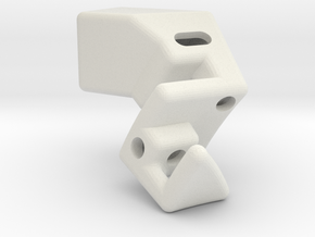 R5 5XCenter3 in White Natural Versatile Plastic