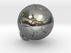 SOCCER BALL FOOTBALL (Pendant or Earring) in Polished Silver