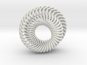 Mobius 7 in White Natural Versatile Plastic