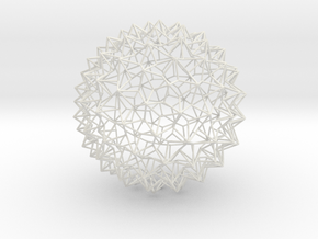 Amazing Mesh Sphere -Small in White Natural Versatile Plastic