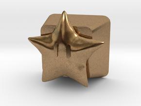 Power Star Cherry MX Keycap in Natural Brass