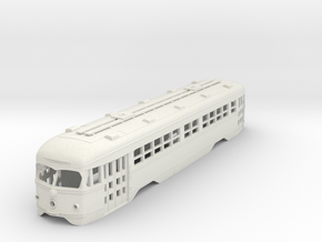 O Scale 1:48 Double-End PCC MUNI BODY  in White Natural Versatile Plastic