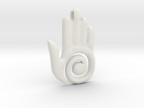 Healer's Hand Charm in White Natural Versatile Plastic