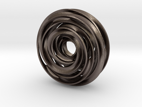 Cinquefoil Knot in Polished Bronzed Silver Steel