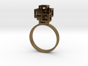 Quadro Ring - US 6 in Natural Bronze