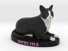 Custom Cat Figurine - Neblina in Full Color Sandstone