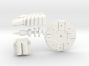 B Wing Greeblies Kit in White Processed Versatile Plastic