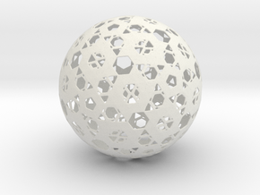 Hexa Mesh Sphere in White Natural Versatile Plastic