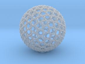 Hexa Weave Sphere in Smooth Fine Detail Plastic