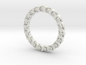 Universal Joint Bracelet v2.0 in White Natural Versatile Plastic
