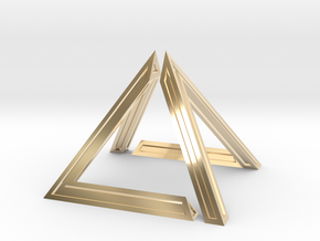 David Pyramid Thick V58.3 - 6cm in 14K Yellow Gold