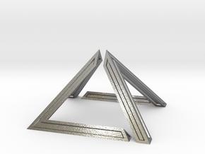 David Pyramid Thick - 6cm in Natural Silver