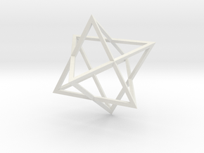 Merkaba - Sharp - 2cm in White Natural Versatile Plastic
