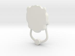 Large Lion's Head in White Natural Versatile Plastic