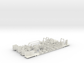Interior for Roco H0 ICE-TD (63030) in White Strong & Flexible
