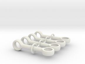 Pushrod 4m 90 Degrees Set in White Natural Versatile Plastic