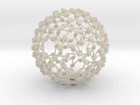 Weaved Knots Sphere in White Acrylic
