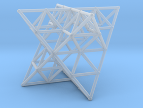 Rod Merkaba Lattice OpenBase - 6cm in Smooth Fine Detail Plastic