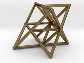 Rod Merkaba Supports OpenBase 4cm in Natural Bronze