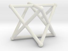 Rod Merkaba OpenBase 3cm in White Natural Versatile Plastic