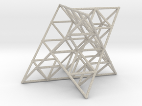 Rod Merkaba Lattice OpenBase 3cm in Natural Sandstone
