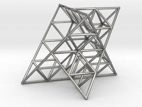 Rod Merkaba Lattice OpenBase 3cm in Natural Silver