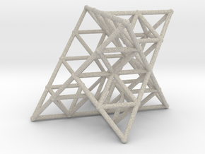 Rod Merkaba Lattice OpenBase 2cm in Natural Sandstone