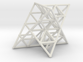 Rod Merkaba Lattice OpenBase 2cm in White Natural Versatile Plastic
