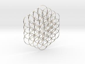 Flower Of Life Weave - 8cm  in Platinum
