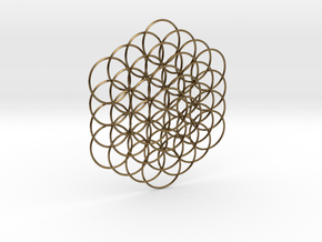 Flower Of Life Weave - 8cm  in Natural Bronze