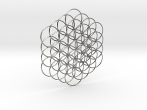 Flower Of Life Weave - 8cm  in Natural Silver