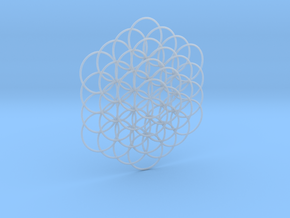 Flower Of Life Weave - 8cm  in Smooth Fine Detail Plastic
