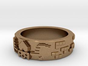 8-bit Claddagh Ring in Natural Brass: 5.5 / 50.25