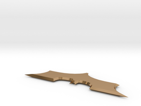 Batarang prop in Polished Brass