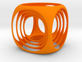 cubeception in Orange Strong & Flexible Polished