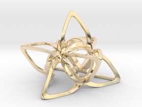 Merkaba Flatbase CurvaciousP - 7cm in 14K Yellow Gold