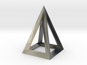 pyramidal pendant in Fine Detail Polished Silver
