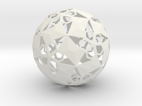Pent Flower Sphere in White Natural Versatile Plastic