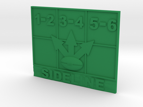 Blood Bowl Throw in Template in Green Processed Versatile Plastic