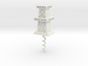 Cork Screw - Oil Derrick in White Natural Versatile Plastic