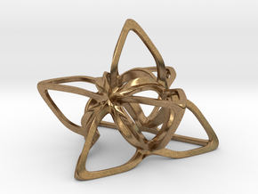 Merkaba Flatbase CurvaciousP - 5cm in Natural Brass